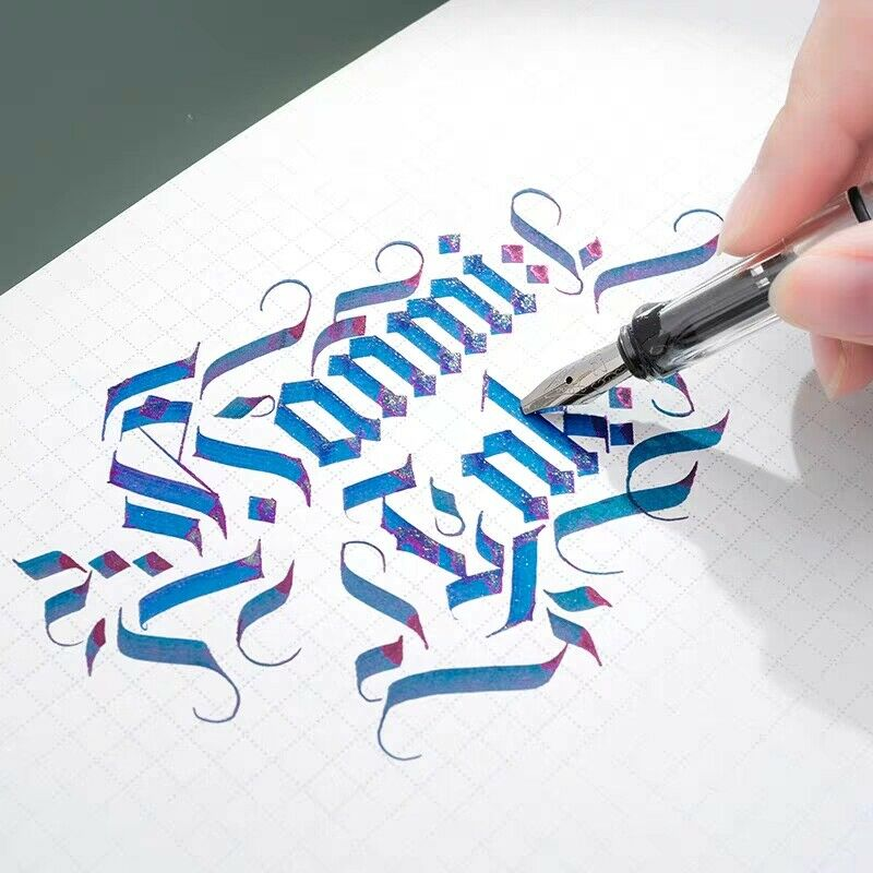 Parallel Calligraphy Fountain Pen Transparent Art Ink Pen Gothic Arabic Italic 0.7/1.1/1.5/1.9/2.5/2.9mm Nib Office Supplies