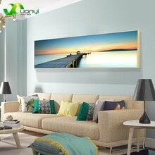 Impresiones de un solo océano, arte de la pared, pinturas de puesta de sol, paisaje marino, decoración del hogar, cuadros de lienzo para sala de estar, aerosol moderno sin marco