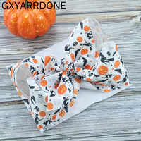 1 stücke 2019 Großhandel Halloween Baby Mädchen Bowknot Stirnbänder Haar Bögen Turban Bebe Bandeau Bogen Headwrap Band Verknotet Stirnbänder