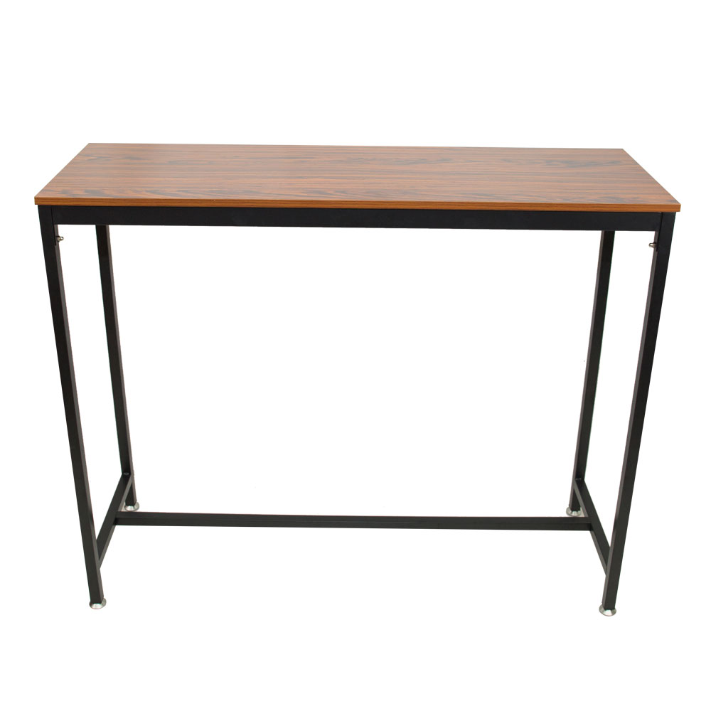 Pub Bars Wooden Table Vintage Rectangular Table with Metal Frame Home Office TB