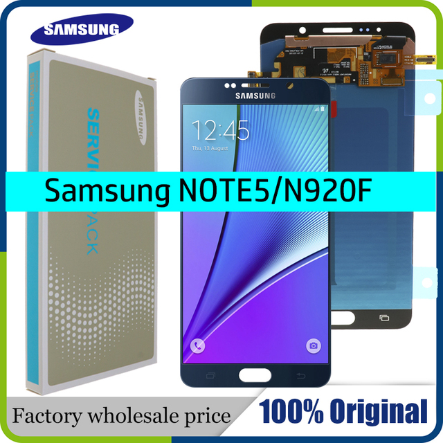 5.7 100% ORIGINAL LCD for SAMSUNG Galaxy Note 5 Display LCD Touch Screen for SAMSUNG Note 5 Note5 N920A N9200 SM N920 N920C