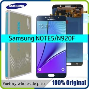 Image 1 - 5,7 100% Оригинальный ЖК дисплей для SAMSUNG Galaxy Note 5, ЖК дисплей с сенсорным экраном для SAMSUNG Note 5 Note5 N920A N9200 SM N920 N920C