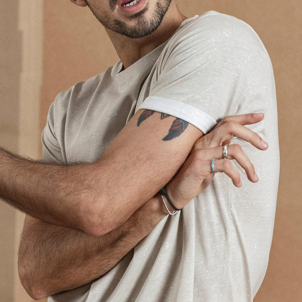 Image 4 - SIMWOOD 2019 summer new Layered chest pocket t shirt men Melange vintage short sleeve fashion tshirt 100% cotton tops 190431-in T-Shirts from Men's Clothing