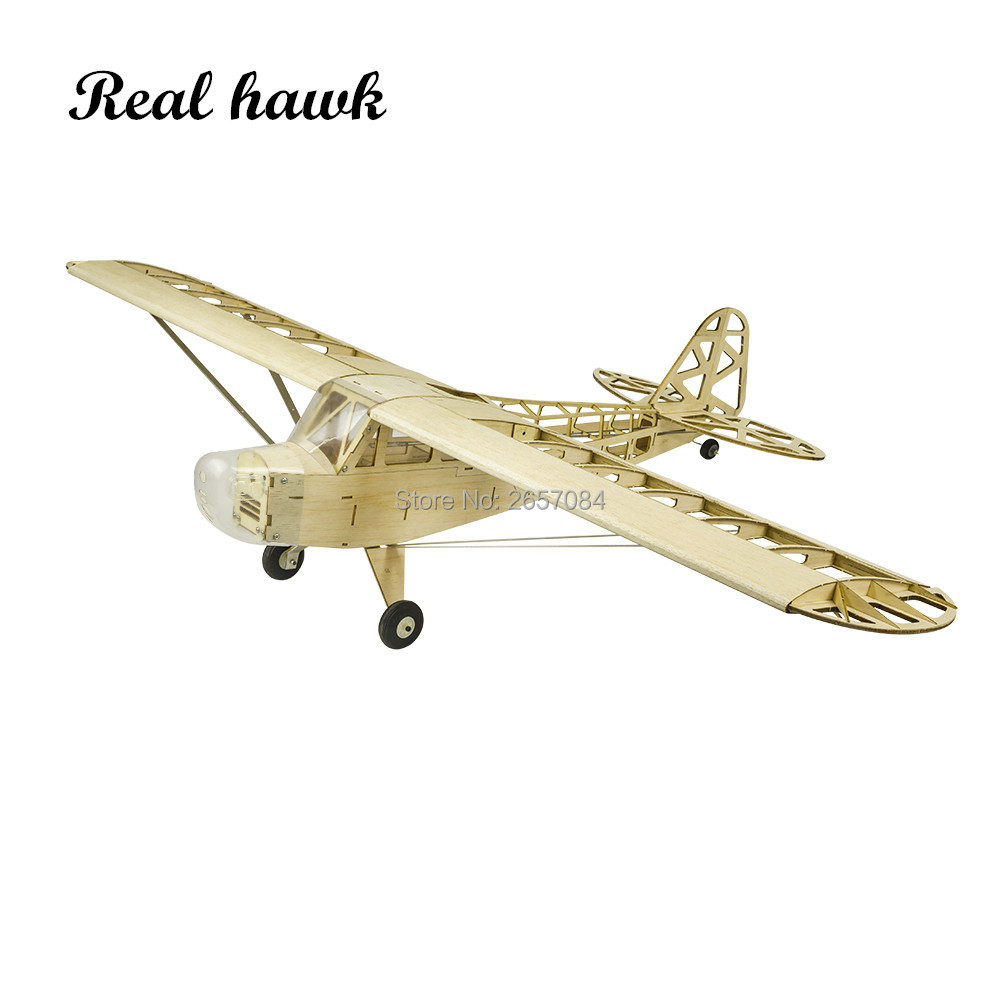 2019 New Piper J3 Cub 1200mm Wingspan Balsa Wood Airplane Models RC Building Toys Woodiness model /WOOD PLANE image