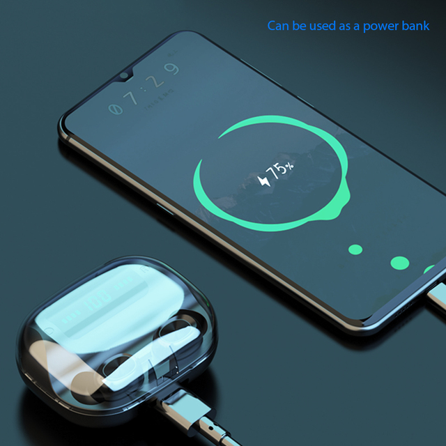 Auriculares inalámbricos 2020 nuevo Bluetooth 9D HIFI auriculares deportivos LED 2200 MAH funda para Iphone HUAWEI DZLST auriculares inalámbricos originales