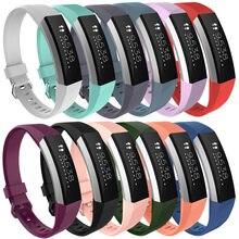 Pequeño reemplazo de la correa de silicona de la correa de cierre para Fitbit Alta HR reloj deportivo colorido pulseras accesorios de la banda de moda