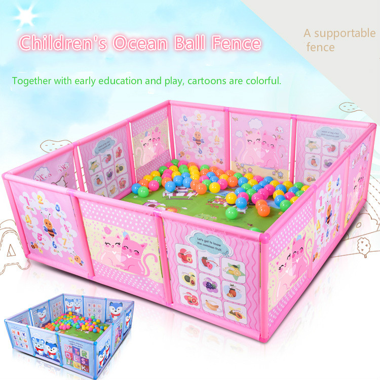 Детский пластиковый забор, детская мультяшная игровая забор, безопасное ограждение для ползания, пешеходное ограждение Игровые палатки      АлиЭкспресс