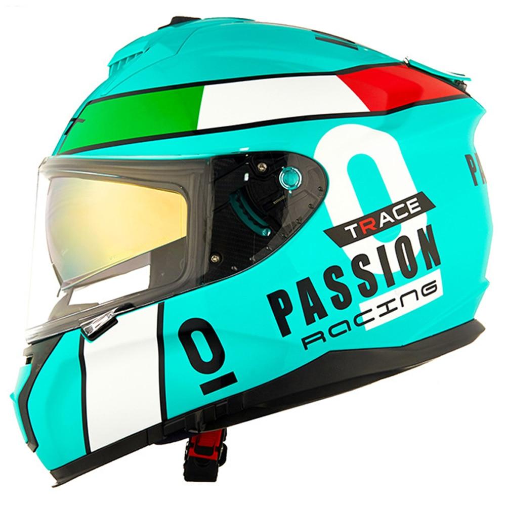 GXT Helmet Motorcycle Full Face Moto Helmets Carbon Fiber Double Visor Racing Motocross Helmet Casco Moto Helmet Motorbike DOT