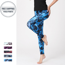 2019 Fast Dry Women Yoga Pants Workout Print Gym Leggings Running Fitness Training Elastic Sexy Long Tights Trousers for Dancing