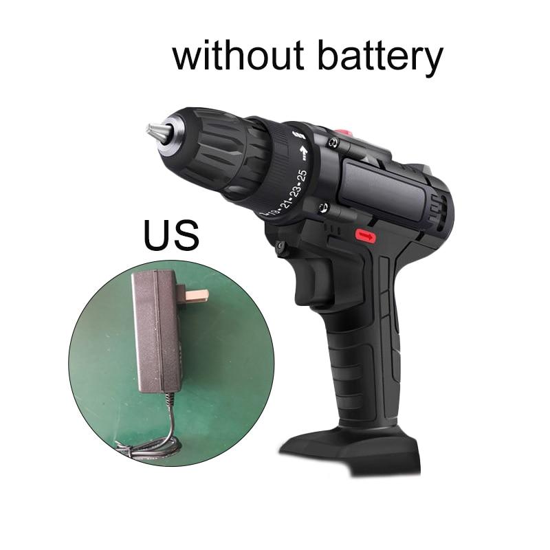 89 BIT SET Cordless Power Drill Electric Screwdriver 18V DUAL SPEED LED LIGHT