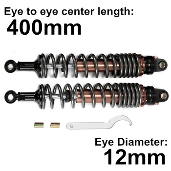 Universal 400mm 15.74 Titanium Motorcycle Off-Road Moto Mountain Dirt Bike Rear Front Shock Absorber Suspension Protector D15 universal 375mm 14 76 black fork motorcycle off road moto mountain dirt bike rear front shock absorber suspension protector d15