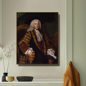 Henry Pelham by William Hoare Canvas Painting Calligraphy Canvas Poster Print Decor Picture for Living Room Bedroom Home Decor image