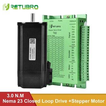 цена на T60+57A3EC / 60A3EC Closed Loop Nema 23 Stepper Motor Driver Kit 3NM 57/60mm Flange Hybrid 4 A 8mm Shaft 24-50V DC Voltage