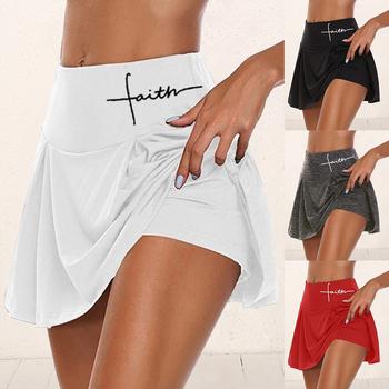 2020 nowych kobiet panie Athletic tenis Sport spódnice z spodenki wysokiej talii krótka sukienka plisowana treningu Running Dance Safety Short tanie i dobre opinie Sfit WOMEN Poliester CN (pochodzenie) Stałe Women Skirt