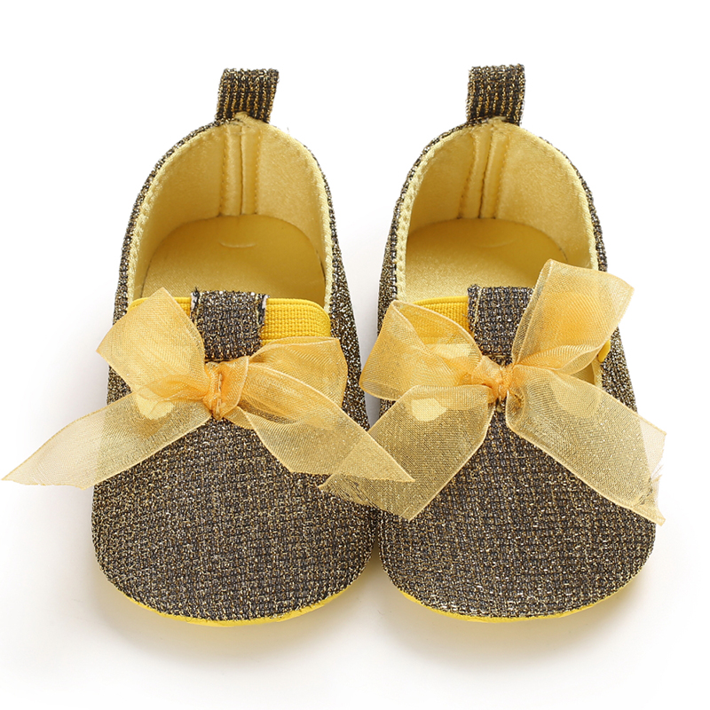 Newborns Baby Shoes Bowknot Girls Shoes Toddler Boys First Walkers Boys PU Soft Sole 0-18 Month Sneakers Christmas New Arrival