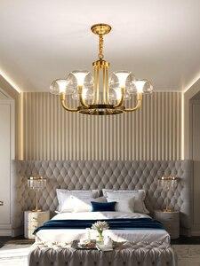 Image 3 - Modern Luxury Copper Creative Chandelier Lighting For Living/Dining Room American Light Nordic Lighting Fixture Indoor Lights