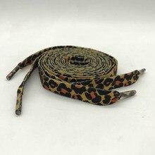 1 Пара Новых Классические Леопардовым Принтом Мода Шнурки Плоские Шнурки, Применимые Ко Всем Видам Обуви