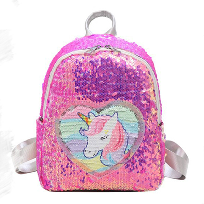 Girls High School Backpack Canvas Laptop Rucksack Cute Unicorn Bookbag For Girls