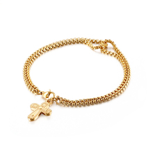 escalus new silver color magnetic stainless steel bracelet for women pure clear branded crystal bracelets bangle wristband charm Gold Color Stainless Steel Hip Hop Chain Bracelet Cross Elephant Hand Pendant Bangle For Women Men Charm Bracelets 2020 New