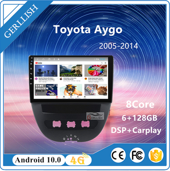 For Peugeot 107 1 for Toyota Aygo 2005-2014 car radio multimedia video player navigation GPS Android no 2din DVD image