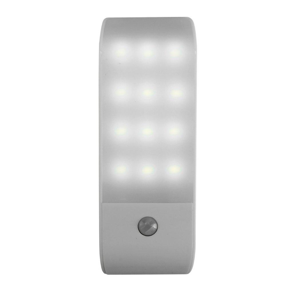 12 LED PIR Infrared Stick-on Rechargeable Wardrobe Night Light USB Motion Detector Induction Sensor Closet Corridor Lamp 5V