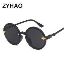 Kids Sunglasses Children Little Bee Round UV400 Retro Brand Sun Glasses GG For Girls Boys Okulary oculos feminino