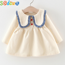 Sodawn Autumn Long Sleeve Dress 2018 Baby Girls Clothes Knit