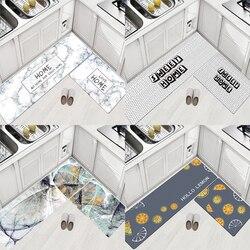 Skórzane dywaniki kuchenne wodoodporny i olejoodporny dywan na podłogę do salonu zmywalna prostokątna mata do dekoracji domu DW244|Dywan|   -