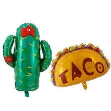 Ballons de décoration de fête mexicaine, fournitures de fête, tacos BOUT, fête d'amour, Cactus, hélium en aluminium, tacotwojournée