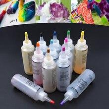 12 цветов Сделай Сам один шаг галстук краситель комплект Ткань Текстиль Перманентная краска цвет для одежды ремесло запасные искусство Дизайн Набор