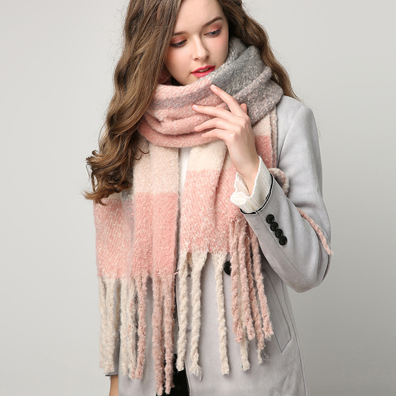 2019 Winter Scarf For Women Cashmere Scarves Shawls Soft Scarf For Women Blanket Pashmina Winter Warm Shawls Female Poncho Stole