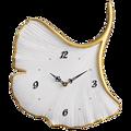 Современные большие настенные часы, 3d золотые украшения для гостиной, креативные Роскошные Настенные часы с листьями, домашний декор, насте...