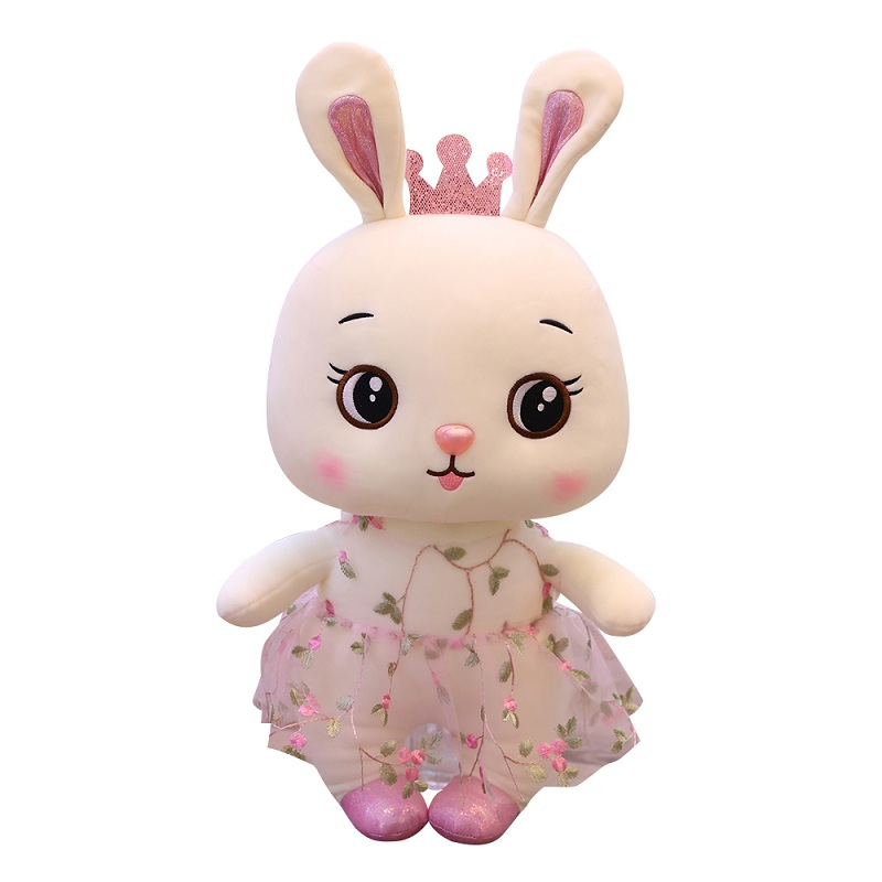 1pc Cute Rabbit With Lace Skirt Plush Toys Soft Stuffed Dolls Lovely Animal Sleeping Pillows For Kids Baby Girls Gifts E-packet