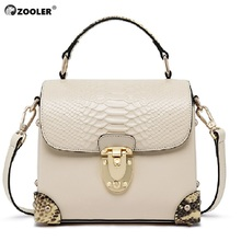 ZOOLER 2019 woman leather bags women luxury genuine handbag shoulder COW tote bag famous brand bolsas- B230