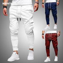 Calças masculinas de moda fina casual jogger calças 2020 streetwear cargo calças multi-bolsos calças masculinas fitness ginásios moletom dos homens