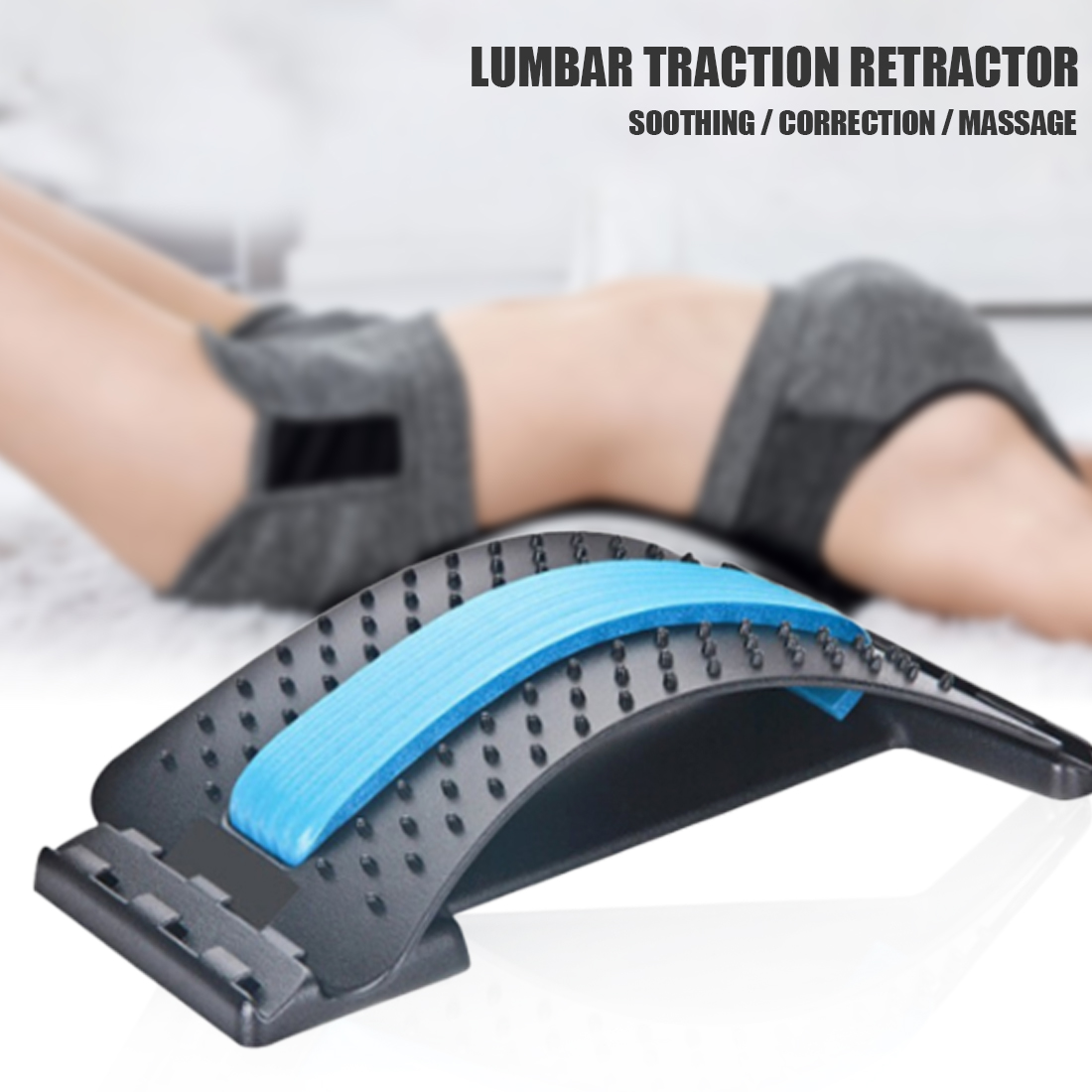 Pain Relief  Back Massager Stretcher Fitness Massage Equipment Stretch Chiropractic Relax Stretcher Lumbar Support Spine