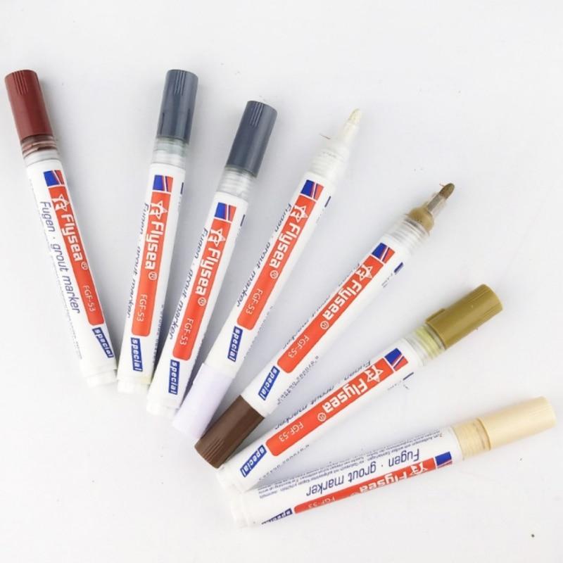 Tile Gap Repair Color Pen White Tile Refill Grout Pen Waterproof Mouldproof Filling Agents Wall Porcelain Bathroom Paint Cleaner
