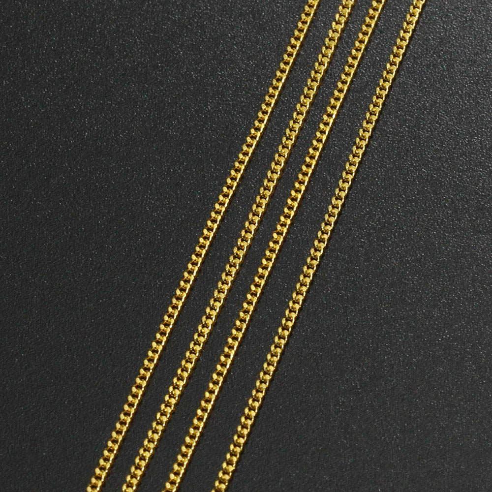 5 10 m/lote plata/oro/bronce Color plateado collar cadenas latón a granel para DIY joyería hallazgos fabricación de materiales A MANO suministros de suministros