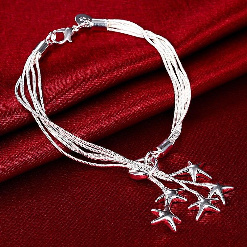 925 ensembles de bijoux en argent étoile de mer collier Bracelet ensemble de bijoux de mariage pour les femmes 3