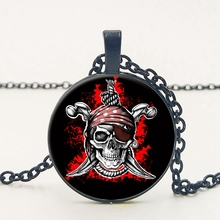 2019 Hot New Products Pirates of The Caribbean Retro Glass Cabochon Necklace Pendant Men and Women Clothing Accessories popular fashion products evil eye necklace retro glass cabochon pendant necklace men and women clothing accessories