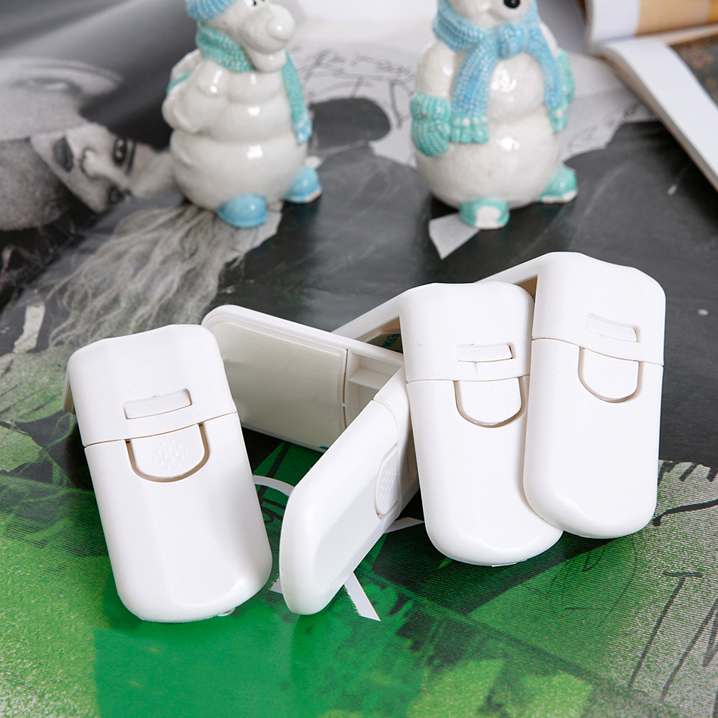 2019 New 10pcs/pack Child Protection Right Angle Lock Door Lock Baby Safety Sliding Window Lock Door Stopper Safe Protect