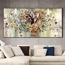 Настенная картина «Древо жизни» Густава Климта пейзаж на холсте