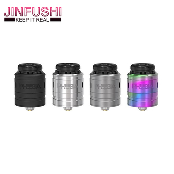 NEW Phobia V2 RDA Atomizer with Easy to Build for Single Coil or Dual Coils 1ML 24mm Diameter 8.8mm tank fit 810 PEI 510 image