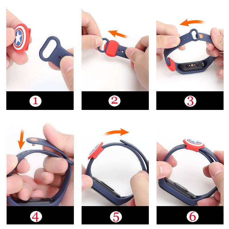 Для Pulseira Mi band 2 3 4 ремень фиксирующий обруч петля пряжка фиксатора держатель для xiaomi band3 4 наручные часы аксессуары