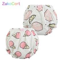 2 Pcs/lot Cotton Newborn Underwear Baby Disper Pants baby girl panties infant Underpants Cartoon Bread For Boys training pants