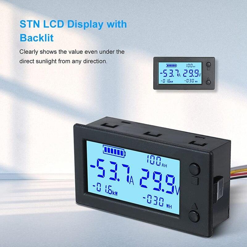 bateria do amperimetro voltimetro de digitas com sensor salao 03