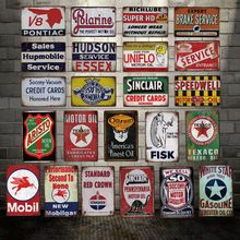 [ DecorMan ] TEXACO APISTO  Oilzum MOBIL Metal SIGN Custom wholesale Iron Paintings Bar PUB Decor LT-1856