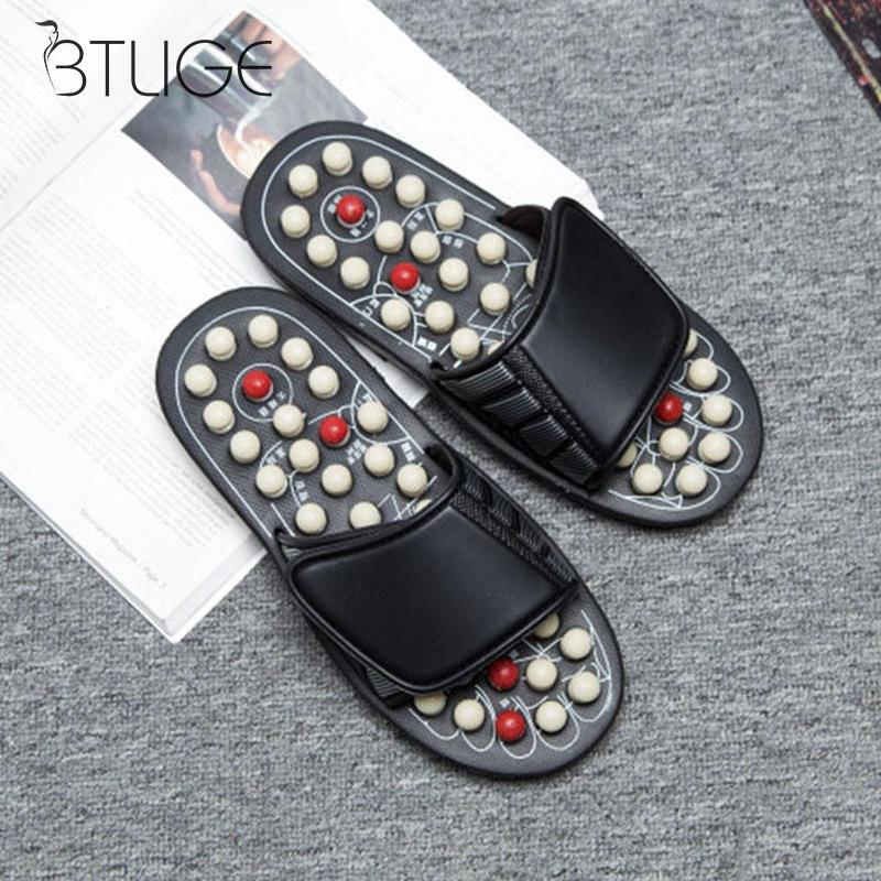 Unisex Acupoint Massage Slippers Medical Rotating Foot Massager Pedicure Health Slippers