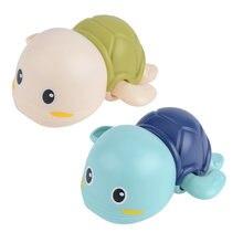 Игрушки для ванны забавная Мини черепаха заводная игрушка детская