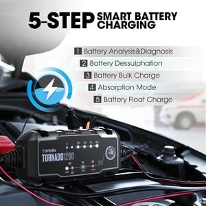 Image 3 - Topdon T1200 Automatische Batterie Ladegeräte 6V 12V Auto Batterie Ladegerät Motorrad Batterie Ladegeräte für Blei Säure Lithium Batterie